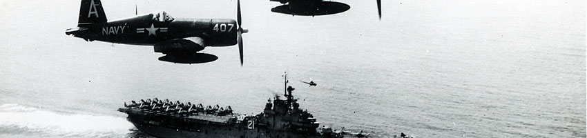 CV-21 Boxer. Corsair Formation Over Korean Waters