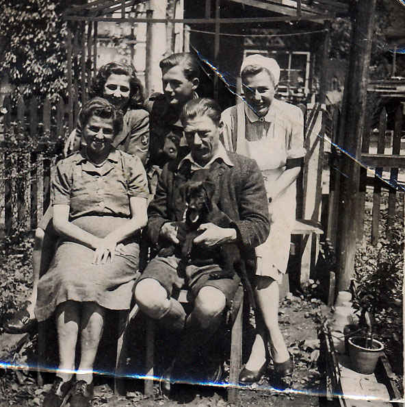 This is the Austrian family my grandfather stayed with after the war ended in Hallein. Staying with a local family was known as billeting. Billeting essentially means quarters or barracks and this was a frequent occurence for soldiers in post World War 2 Europe. Billeting by the British in colonial times was one of the causes of the American Revolutionary War but my grandfather did not have any problems.