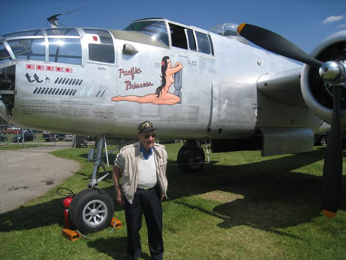 Arn flew the B-25 H Mitchell Search and Rescue in the CBI during World War II.
