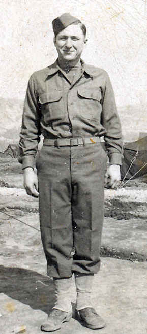 This is my grandfather's brother Donald. Donald was part of the 93rd Ordnance maintenance company and was actually able to meet up during the post war which is pretty amazing considering the millions of soldiers who were overseas.