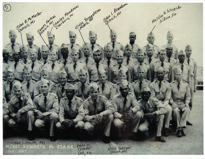 "101st Airborne, 516th Reg. ""G"" Company Basic Training graduation photo.  P. 5 of 5. Charles Remboski of Dearborn, MI added.