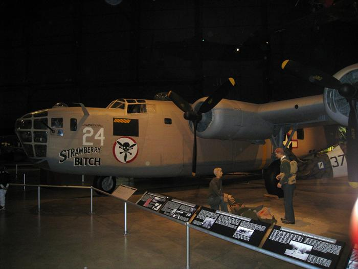 B-24 Liberator Strawberry Bitch. The B-24 does not get the recognition that the B-17 does but it was a very formidable bomber. Its extended range made it will suited for all theaters during World War II. The B-24 was meant to be a major upgrade over the previous B-17 bomber. The B-24 was the most mass produced plane of the war, 18,190 were manufactured.