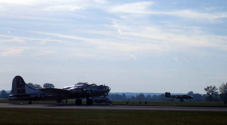 B17 and B25 take off at the same time.