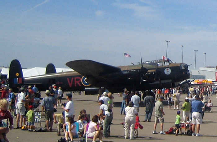 Lancaster a British's primary bomber used in World War 2.