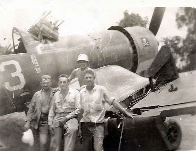 Corsair on Bougainville, South Pacific.