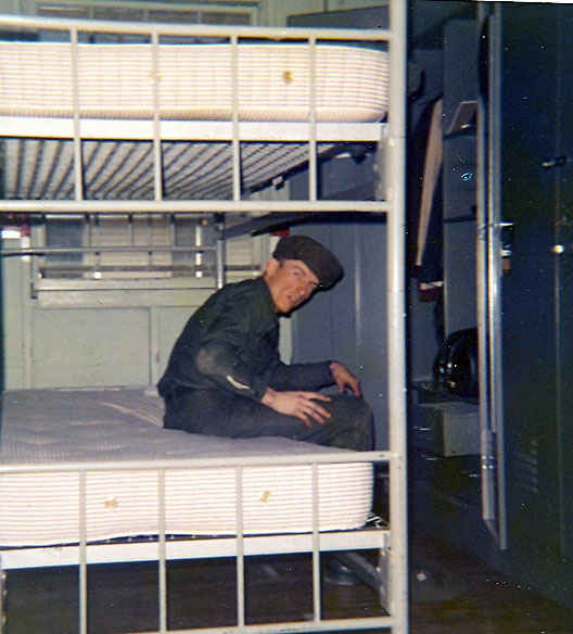 Double bunk beds in a 40 man barracks for basic training. Denny Ft. Knox, KY 1972.