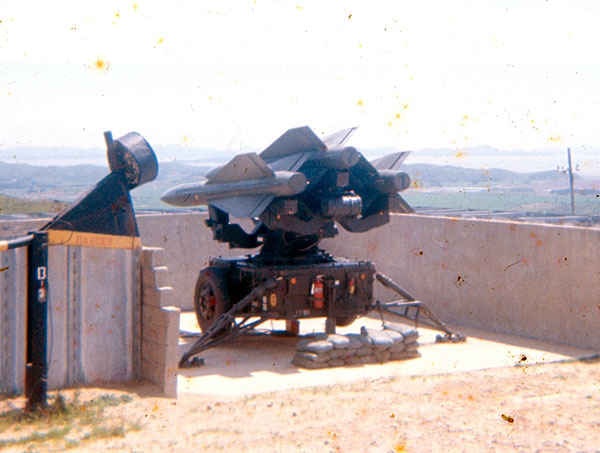 Anti aircraft Hawk Missile at B Battery where Dennis was stationed 1973-1974.
