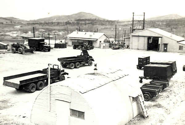 Motorpool Korea 1973-1974 at B Battery.