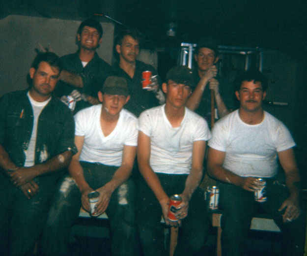 Korea painting crew Denny 2nd from right 1973-1974.