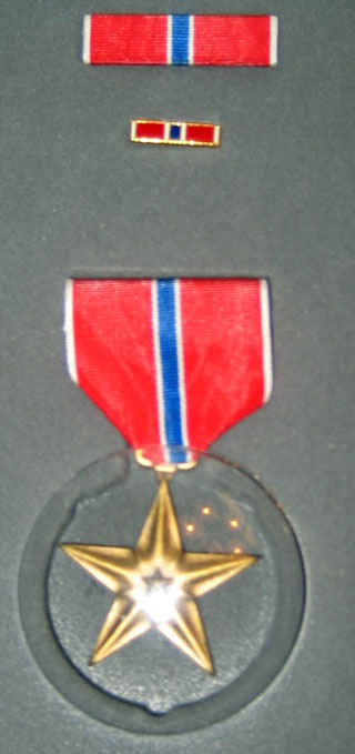 Bronze star awarded to my grandfather.