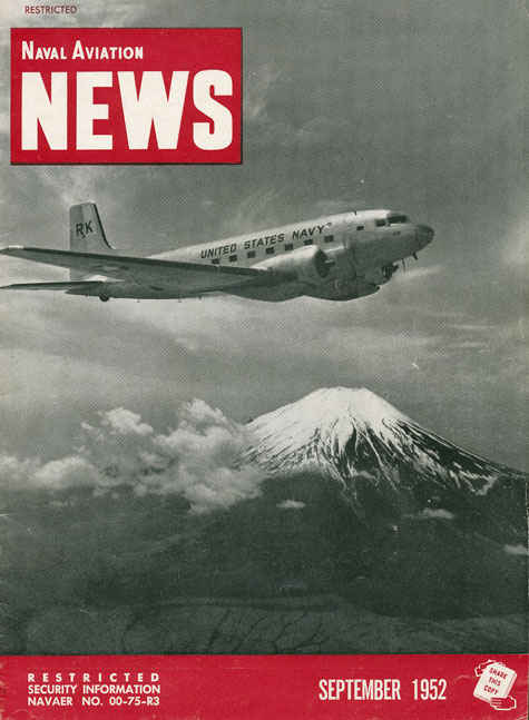 Naval Aviation News magazine from September 1952.