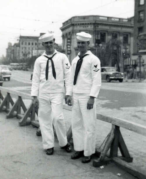 On liberty in Tokyo during the Korean War.