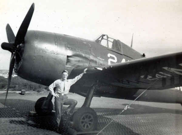 Gene in front of a F6F Hellcat. Kill wise, the Hellcat was the most successful aircraft in naval history. It came into service during World War II and replaced the F4F Wildcat. The Hellcat was the primary fighter along with the Corsair. The F6F outclassed the Zero in nearly every category.