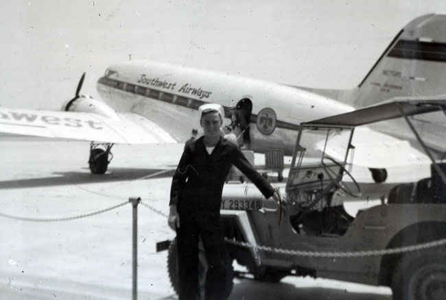 Douglas DC-3 flown by Southwest. The DC-3 paved the way for modern aircraft travel today not to mention played an integral part of World War II as a C-47 transport.