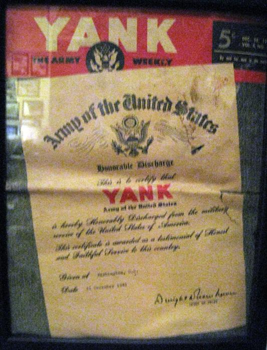 Last issue of the Yank. The Yank was an Army weekly magazine during World War II. This issue was published in December 1945.