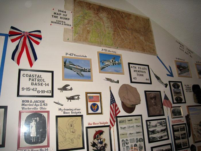 Part of Captain Arn's wall in his house.