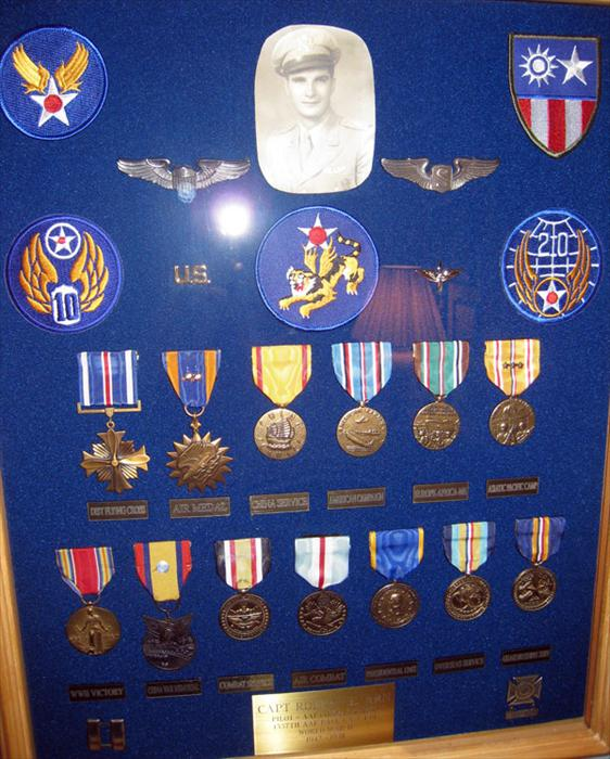 Medals earned during service from 1942 through 1948.