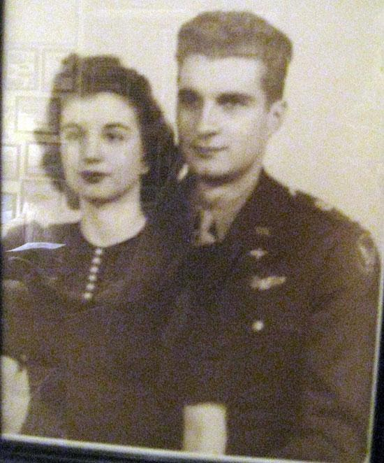 Bob and his wife Jackie. They were married on April 2, 1943 before Bob went overseas. Jackie knew that Robert would never forget their anniversary because it was the same day as her birthday. If he forgot that day he would be in big trouble.