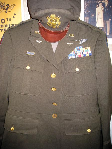 Authentic World War 2 uniform Robert still wears today.