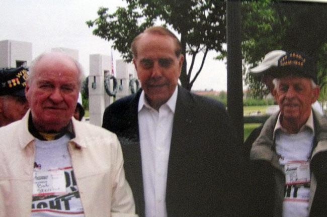 Bob Dole and Robert Sterchie in Washington, DC part of the Honor Flight for World War II veterans.