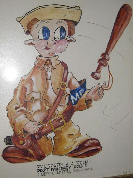Picture drawn for Robert on 12/30/1941 at Fort Custer.