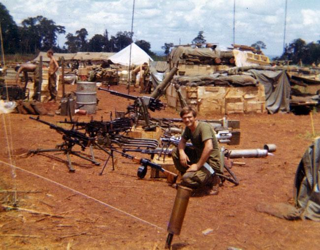 Weapons captured from the 1970 Cambodian raid.