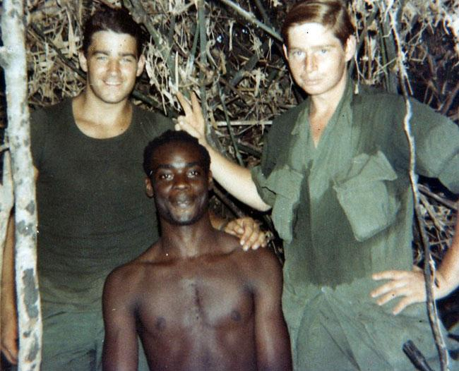 Left Punkin, Sly and Jim. Vietnam 1970.