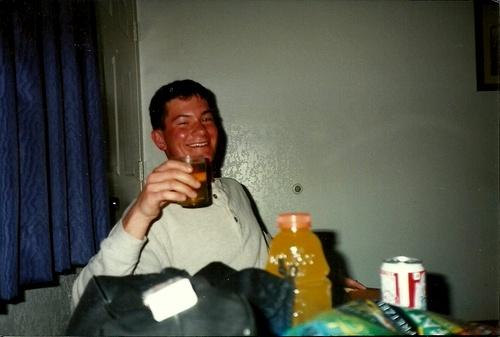 Stress relief, weekend with my friends at a hotel in 1996 while going to lab tech school, C Company 187th Medical Battalion.
