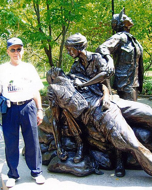 Fred on 9/8/2007 in Washington, DC on his Honor Flight.