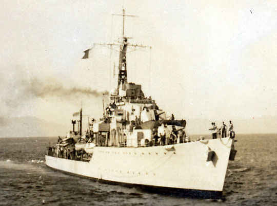 One of the numerous ships that my grandfather saw as he was on duty. This is the British HMS Cossach.