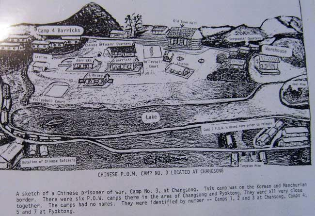 Chinese POW camps Changson and Pyoktong.
