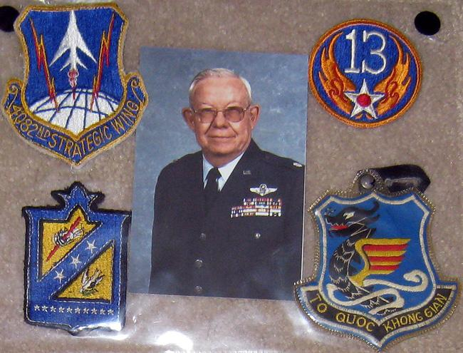 1082 Strategic Wing and 13th Air Force patches.