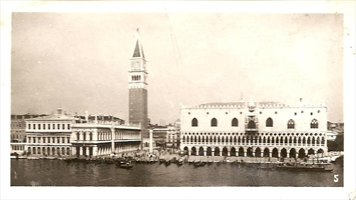 Unknown building in Venice, Italy.  Possibly on return to Naples towards end of overseas service.